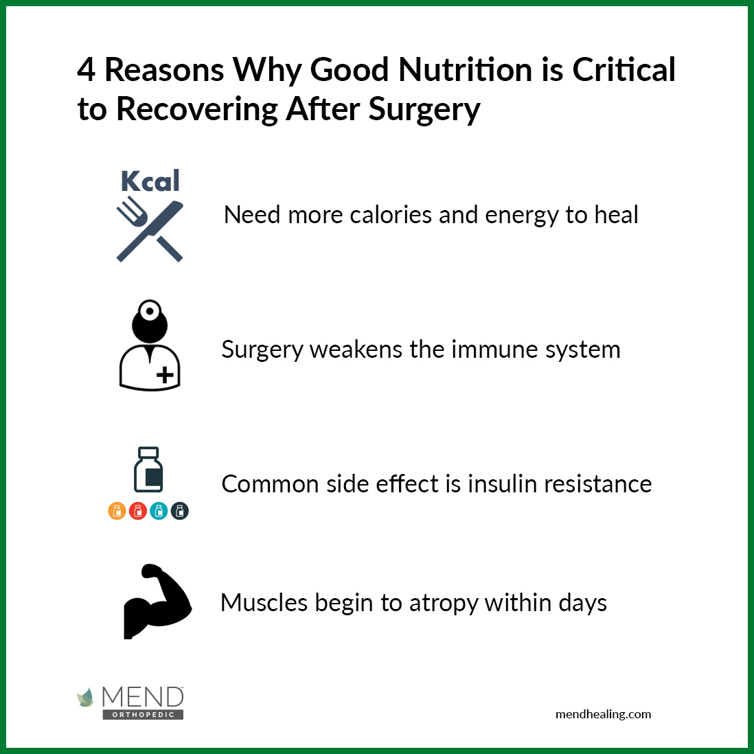 4 Reasons Why Good Nutrition is Critical to Recovering After Surgery