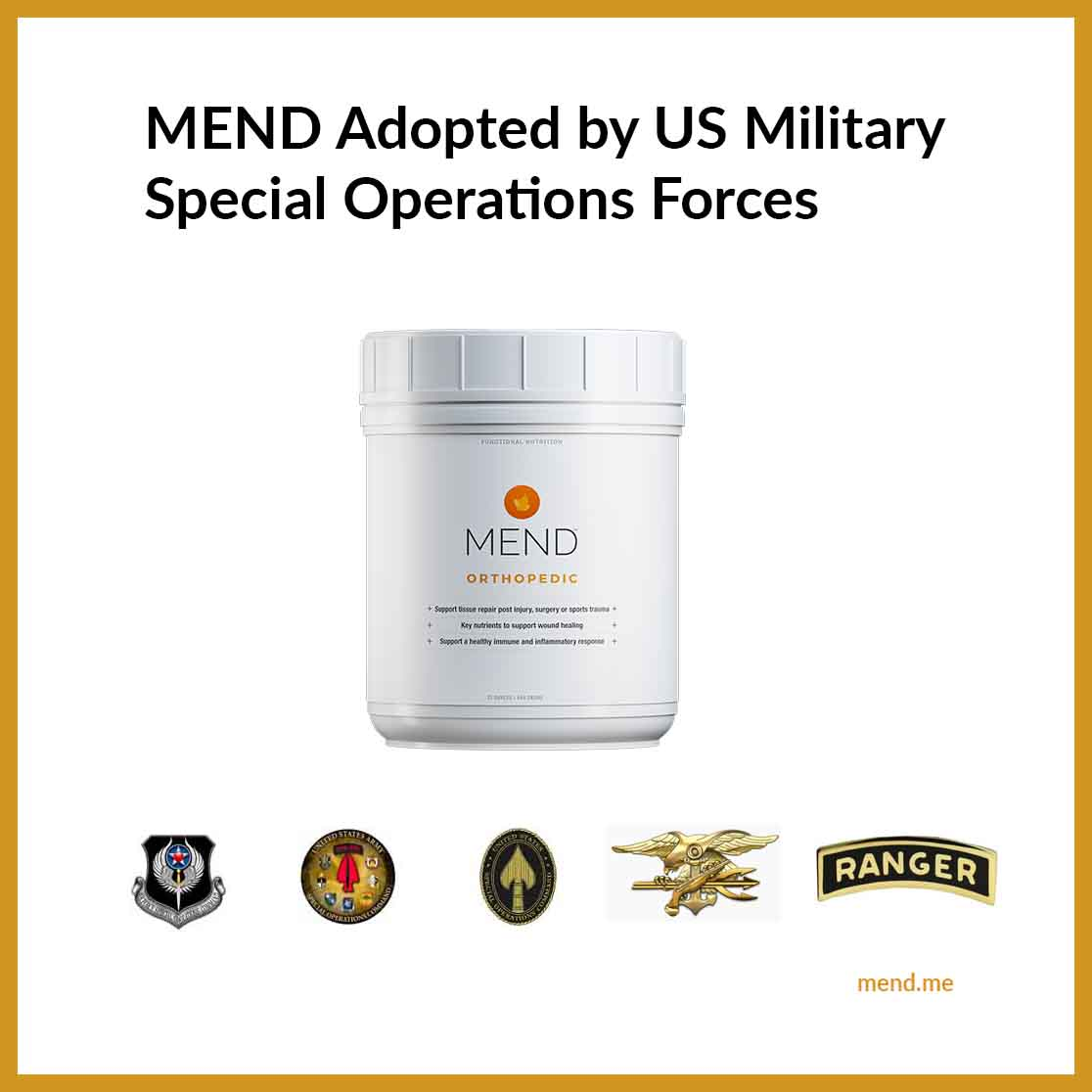 MEND Adopted by US Military Special Operations Forces