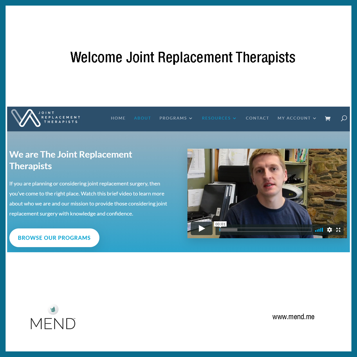 MEND to work with Joint Replacement Therapists