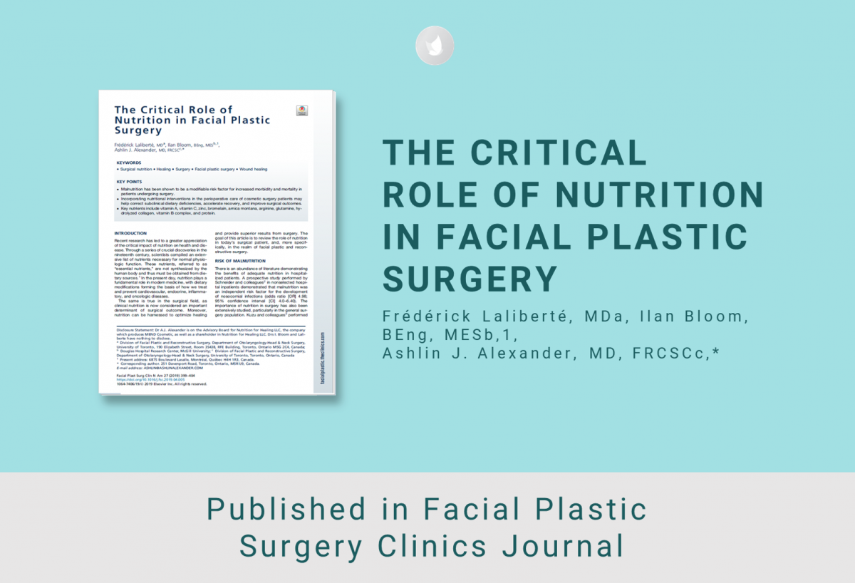 Clinical Paper on The Critical Role of Nutrition in Facial Plastic Surgery