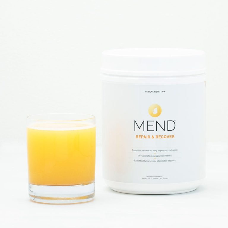 MEND Repair & Recover bottle and orange drink